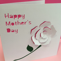 Mother's Day Card - Rose - Mothers Day Card - Mother