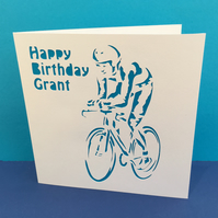 Cycling Card - Paper Cut Cyclist