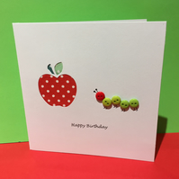 Caterpillar Birthday Card