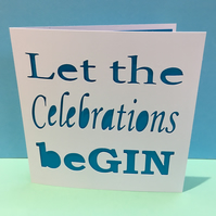 Birthday Card - Gin - Celebration