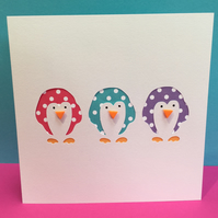 3 Little Penguins Card