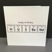 Birthday Card - Husband - Chemistry