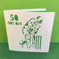 Cricket Birthday Card - Paper Cut Cricketer