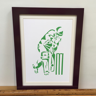 Paper cut Art - Cricket Picture, Cricketer, Sport, Hand cut art - silhouette