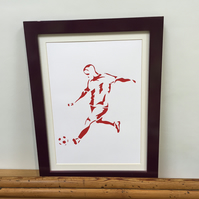 Paper cut Art - Football Picture, Soccer Picture, Footballer, Sport, Artwork