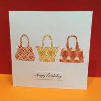 Handbag Birthday Card