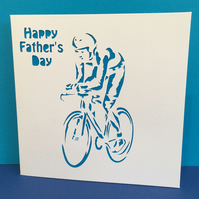 Father's Day Card - Cycling, Cyclist