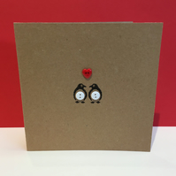 Penguin Valentine's Day Card