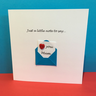 Mother's Day Card - Cute Button Card