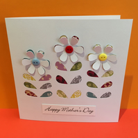 Mother's Day Card - Button Flowers