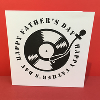 Vinyl Record Father's Day Card