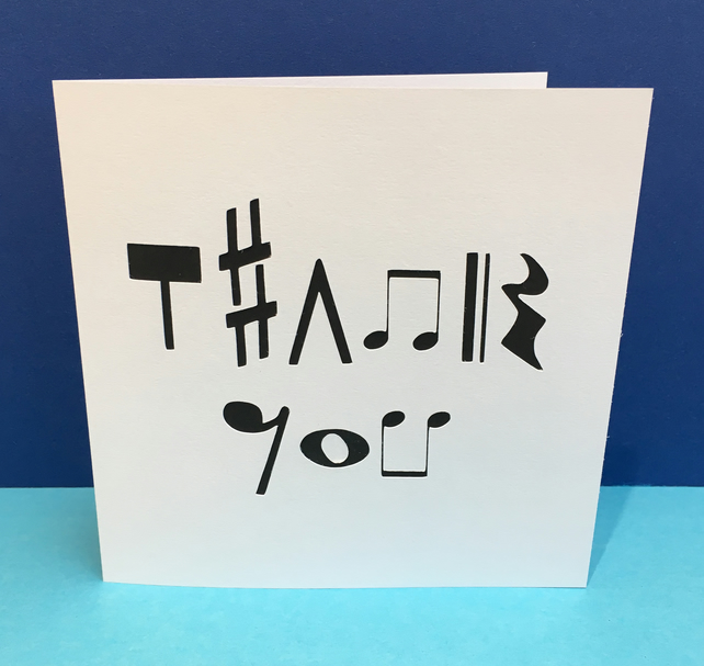 Music Thank You Card