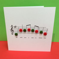 Christmas Card - Christmas Music Card