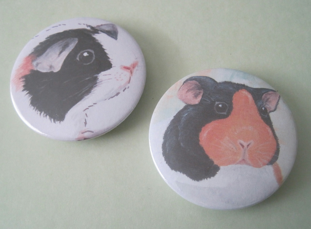 Guinea Pig badge x 2 SALE