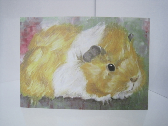 Guinea Pig Blank Greetings Card