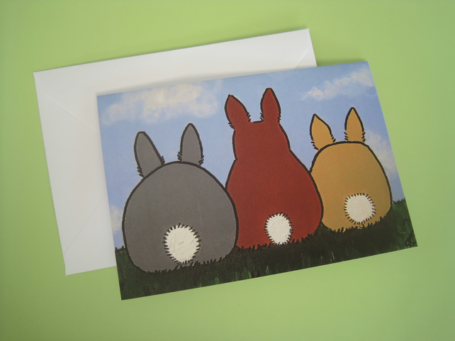 Bunny Bobtails Greetings Card