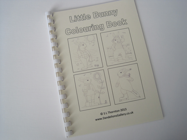 Bunny Rabbit Colouring Book for Children and Grown Ups