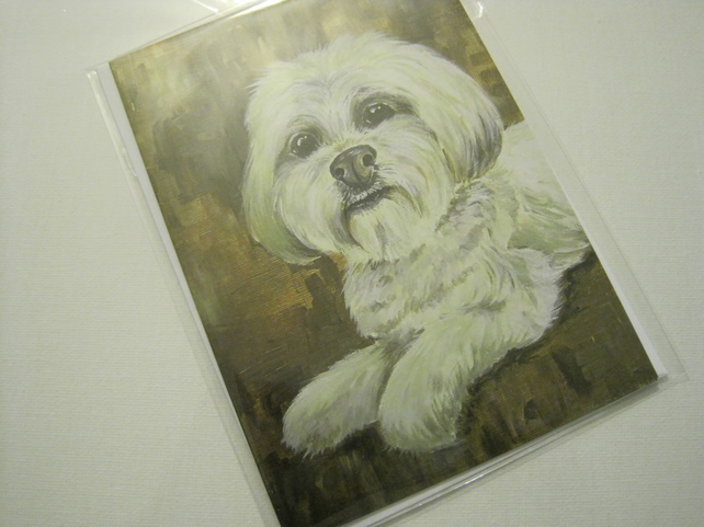 Dog Card Blank Greetings Card Printed from Original Art birthday