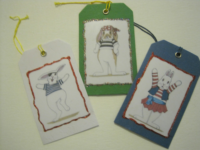 Pirate Bunny Gift Tags