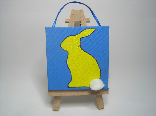 Bunny Rabbit Original Mini Painting SALE