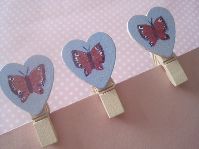 Mini Pegs with Butterflies
