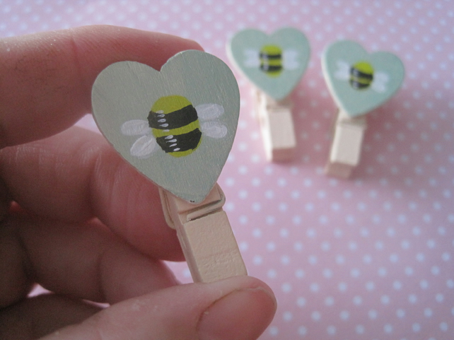 Mini Pegs for Birthday Christmas or other Greetings Cards