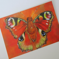Butterfly Postcard Art Print from Painting Small Picture