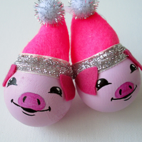 Pig Piggy Piglet Pink Christmas Bauble Tree Decoration Xmas Farm Animal