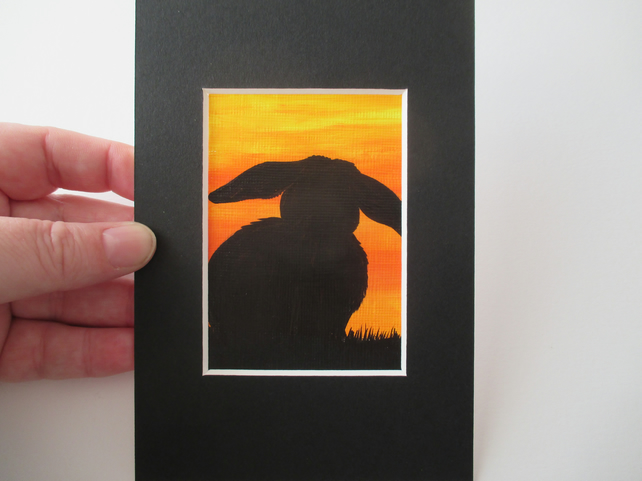 ACEO Rabbit aceo silhouette