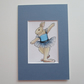 Dancing Bunny Rabbit ACEO SFA Picture Painting Original Ballet Ballerina Dance