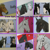 Stable Name Sign Horse Donkey Goat hand painted custom portrait picture Top Hole