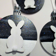 Bunny Rabbit Hanging Decoration Christmas Tree Bauble