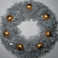 Guinea Pig Bauble Head Christmas Wreath Tinsel White Silver Gold