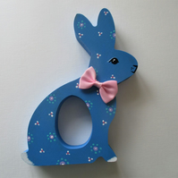 Easter Bunny Chocolate Egg Holder Wooden Hand Painted