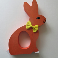Easter Egg Holder Bunny Chocolate Egg Wooden Hand Painted MDF