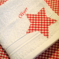 Personalised star Flannel