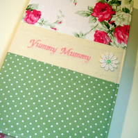 Personalised notebook made to order