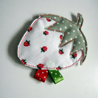 PIF Strawberry brooch