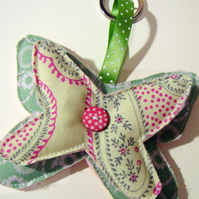 Green Butterfly Key Ring