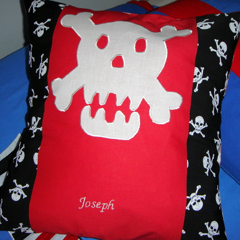 Personalised skull cushion