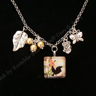 Silver Plated Bird Charm Necklace
