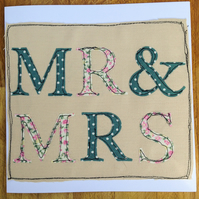 Large Mr and Mrs Card