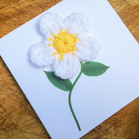 Mini Card - Crochet Daisy