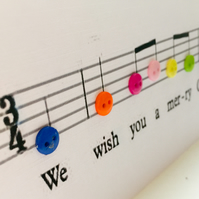 We wish you a merry Christmas musical notes
