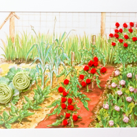 Embroidered Vegetable garden