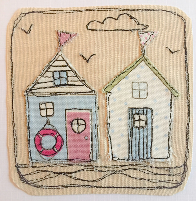 Bech hut applique card