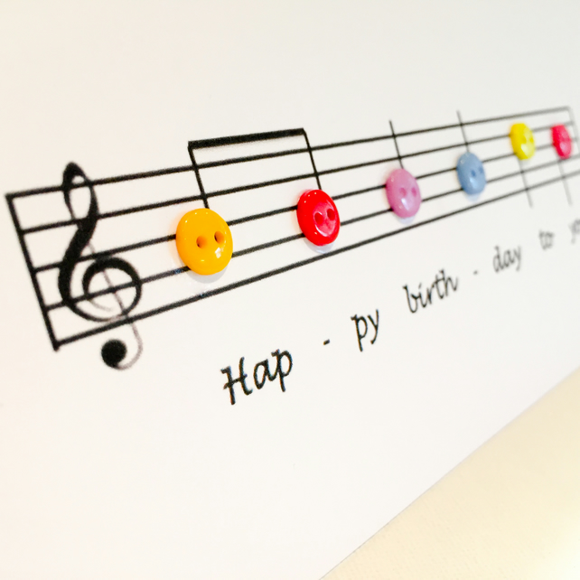 Tremendous Musical Happy Birthday Card Folksy Personalised Birthday Cards Cominlily Jamesorg