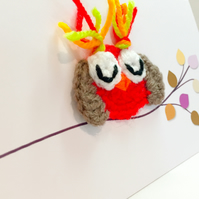 Crochet Owl - Happy birthday !