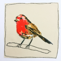 Robin Applique card