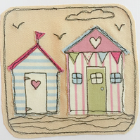 Beach hut applique